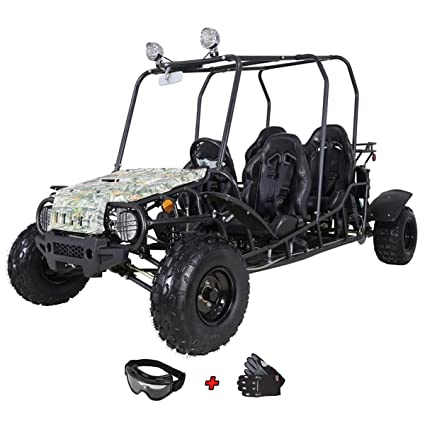 X-Pro 200cc Adult Gokart Dune Buggy Adults Go Cart Gokart 4 Seater Go Kart  with Gloves and Google