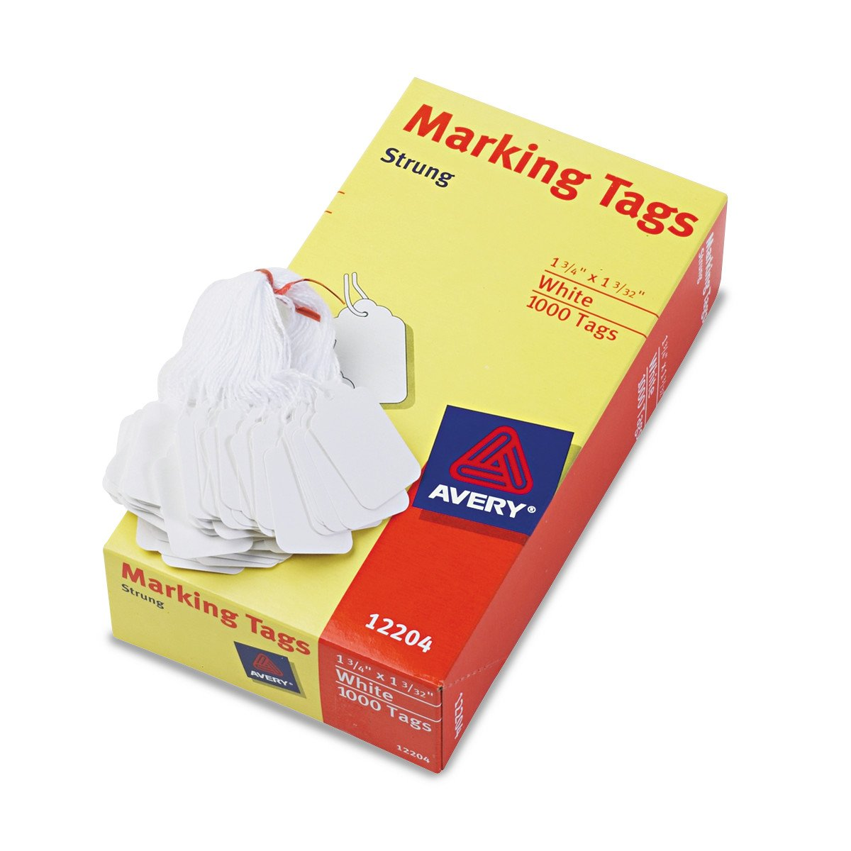 Avery 12204 Medium-Weight White Marking Tags, 1 3/4 x 1 3/32 (Box of 1000) by Avery (Image #2)