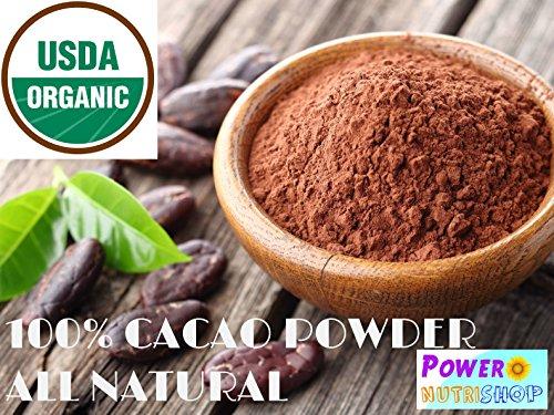 1 LB (16 OZ) Organic Raw Cacao Powder,100% Pure, ALL (Magnesium Pressed Powder)