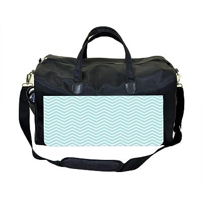 Blue Pastel Chevrons Weekender Bag