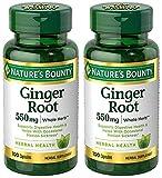 Ginger Root 550 mg, 2 Bottles (100 Capsules)