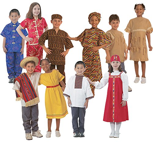 BECKER'S EXCLUSIVE KITS 329BK Multicultural Dress Up Costume Set, (Pack of (Cultural Russian Costumes)