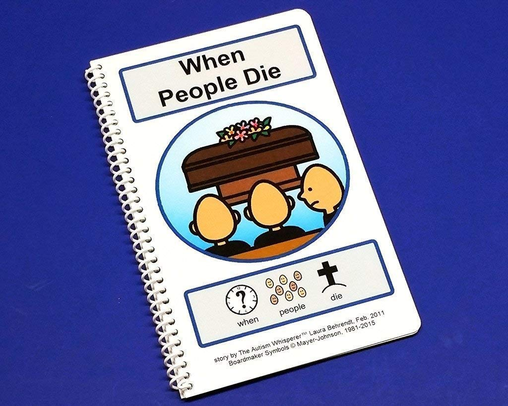 Autism Social Stories PECS Communication Book ABA Therapy When People Die Funeral Social Story