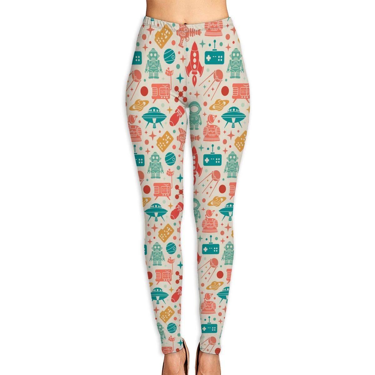 Amazon.com: Norman&New Womens Womens Pants Colorful Space ...