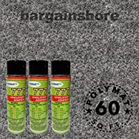 16FT x 3.75FT Charcoal Speaker Box Carpet +3 Cans 777 Fabric Spray Glue