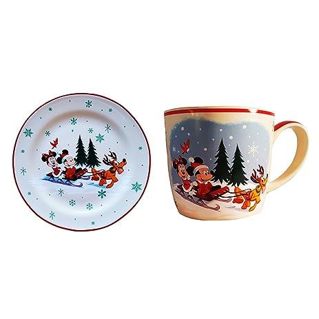 Disney Parks Mickey Mouse \u0026 Friends Christmas Holiday Santa Mug \u0026 Plate Set  sc 1 st  Amazon.com & Amazon.com | Disney Parks Mickey Mouse \u0026 Friends Christmas Holiday ...