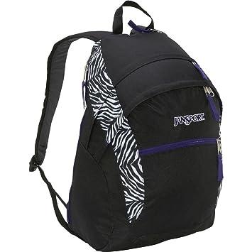 Amazon.com: JanSport Wasabi Backpack (Black/White Cosmo Zebra Poly ...