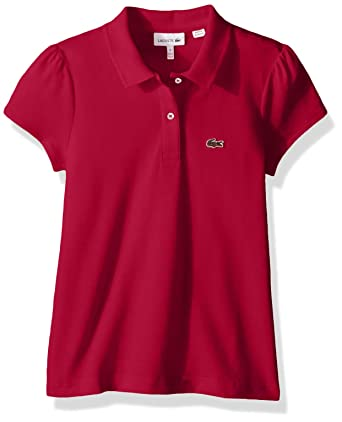 44a5c044a6 Amazon.com: Lacoste Girl Short Sleeve Mini Pique Iconic Polo: Clothing