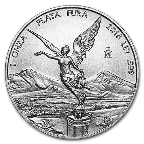 2018 MX Mexico Libertad - 1 oz pure Silver Coin - 1 OZ Brilliant Uncirculated CA