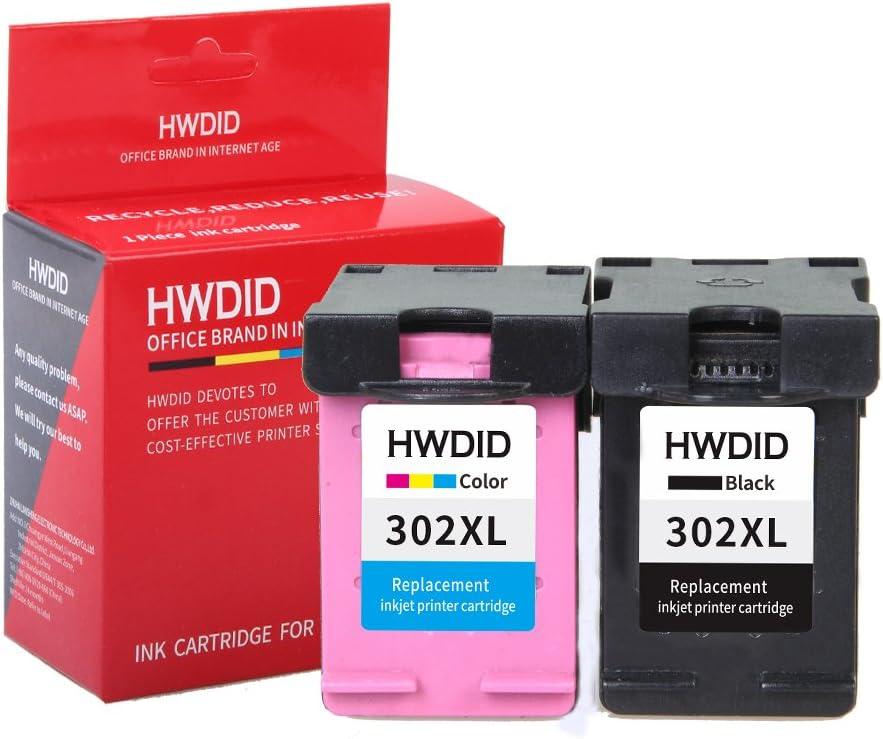 hwdid 302 x l cartuchos de tinta (1 negro y 1 de color, 2 Pack ...
