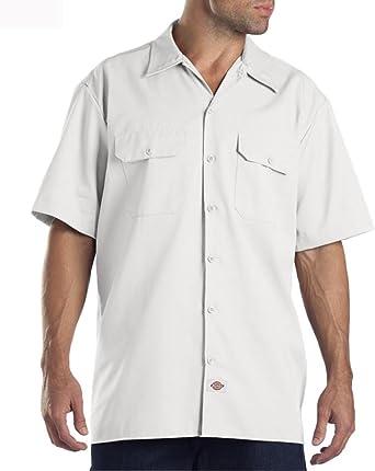 Dickies - Camisa de Trabajo con Manga Corta - Blanco Hombre Ropa de Trabajo DICKIES1574WH: Amazon.es: Ropa y accesorios