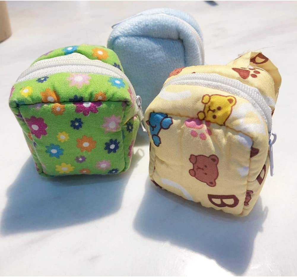 Yu-Xiang Hamster Cotton Backpack Pet Cartoon Bag Parrot Bag Parrot Outdoor for Small Animal Groundhog Squirrel Guinea Pig Yellow