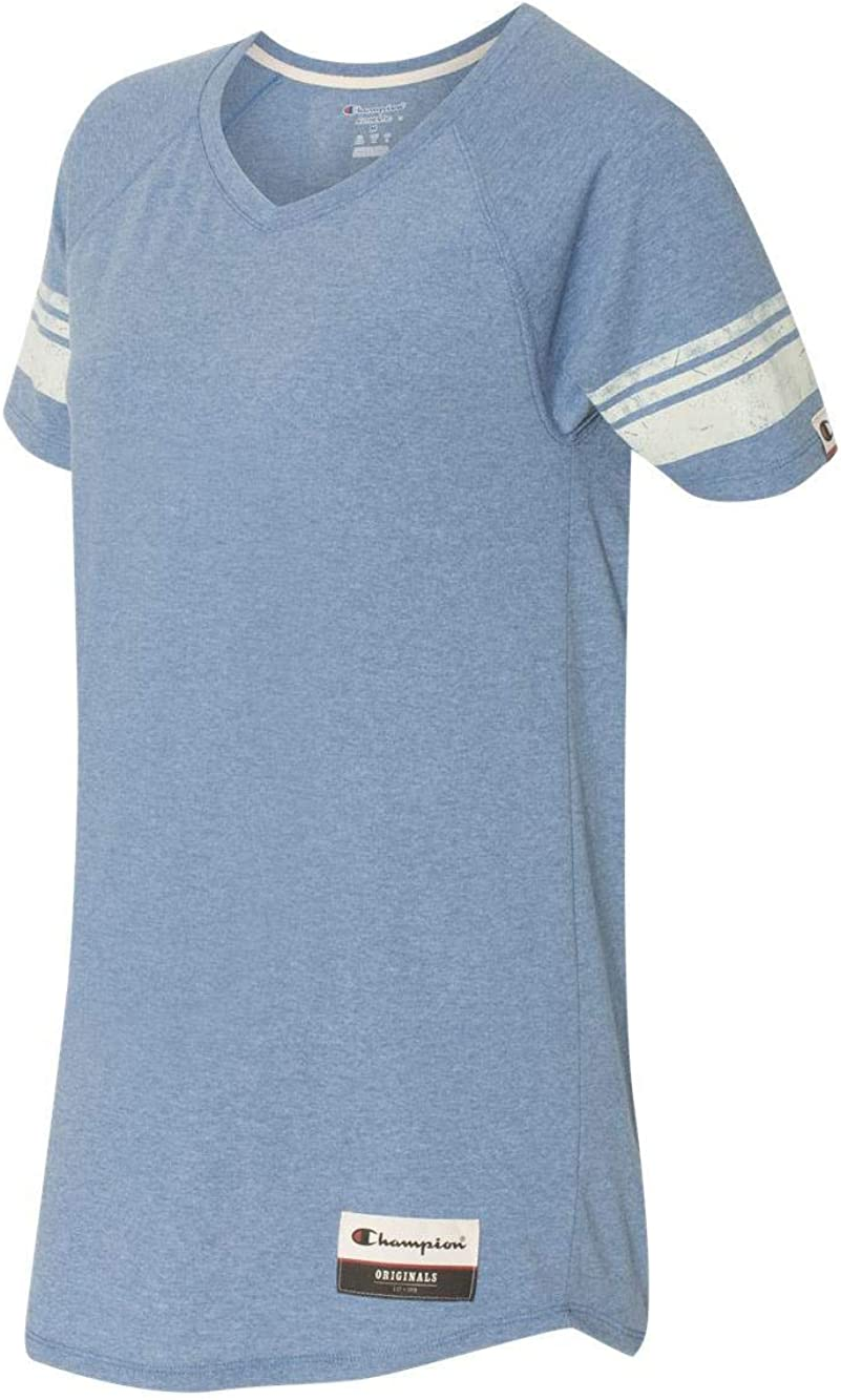 Champion Women's Authentic Originals Triblend Varsity Short Sleeve Tee at  Women's Clothing store