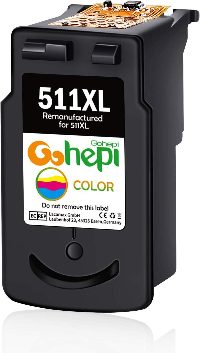 Gohepi Remanufacturados Canon PG-510 CL-511 Cartuchos de tinta ...