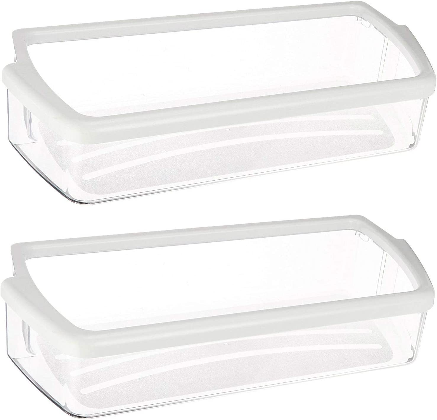 Kitchen Basics 101 W10321304 Replacement for Whirlpool Clear Door Bin with White Band on top 2 pack: Home Improvement