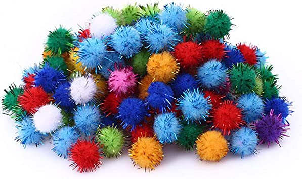 Lezed 100 Piezas Mini Pompoms Colores Mini Pompom Pelotas mullida ...