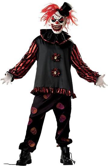 Costume Carnevale Halloween Clown Pagliaccio Carver di IT film – horror uomo Medium