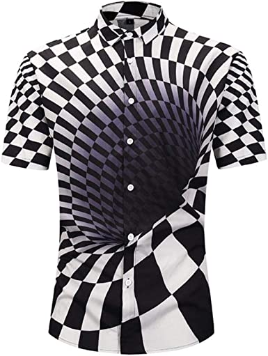 Camisa de Verano para Hombre Moda Ligera Camiseta Transpirable Estampado en 3D Vortex Camisa Manga Corta Camisa Hawaiana: Amazon.es: Ropa y accesorios