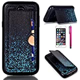 S4 Mini Case, JCmax New Colorful High Quality TPU Case [Perfect Fit][Precise Opening] [Kickstand Design] Soft Flexible Back Cover For Samsung Galaxy S4 Mini i9190 ¨CNight Sky
