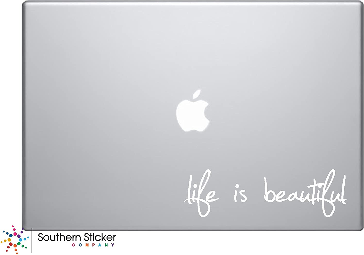 Life Is Beautiful Laptop Apple Silhouette Doctor Macbook Symbol Keypad Iphone Apple Ipad Decal Skin Sticker Laptop (white)