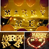 Marry Me Sign -Light Up Letters,Neon Number Sign Wall Decorative Warm White Letter Lights Night Lamp for House Bar Pub…