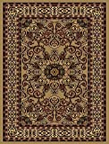 Traditional Area Rugs 8×10 Clearance and 5×7 Rugs for Living Room Rug (8X10, BEIGE)