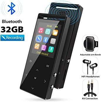 Grtdhx 32GB MP3 Player with Bluetooth and FM Radio