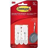 Command 17065-ES Wire Toggle Hook - Medium, White