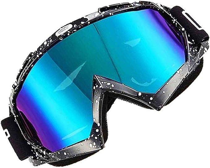 Idyandyans Motocross Helm Brille Atv Mtb Dirt Bike Goggle Motorrad Schutzbrille Schmutz Fahrrad Motorrad Off Road Windsicher Skifahren Skating Brillen Sport Freizeit