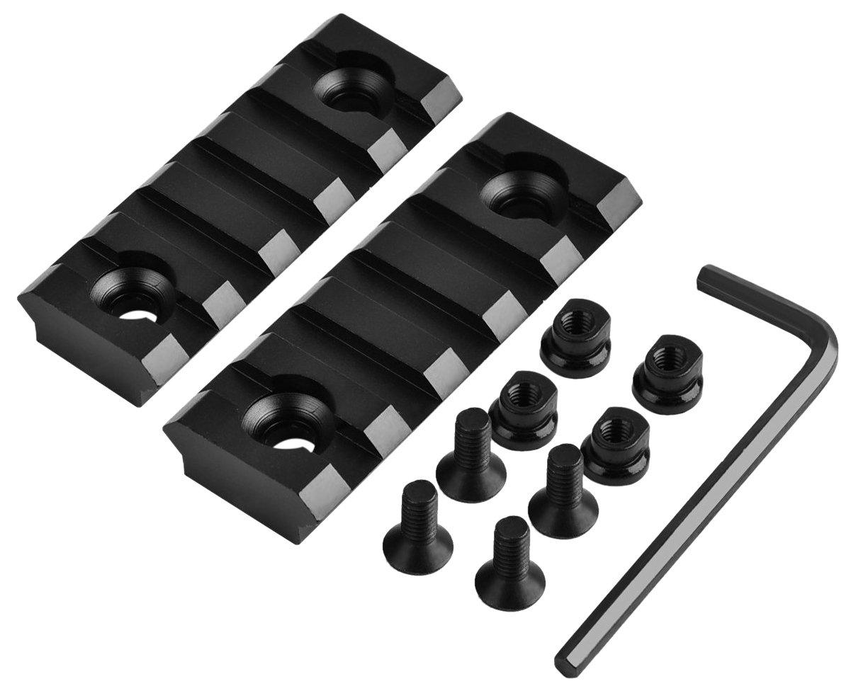 5 Slot 2.2'' Rail Section for Key Mod Picatinny Handguard Mount Rail System, 2 Piece