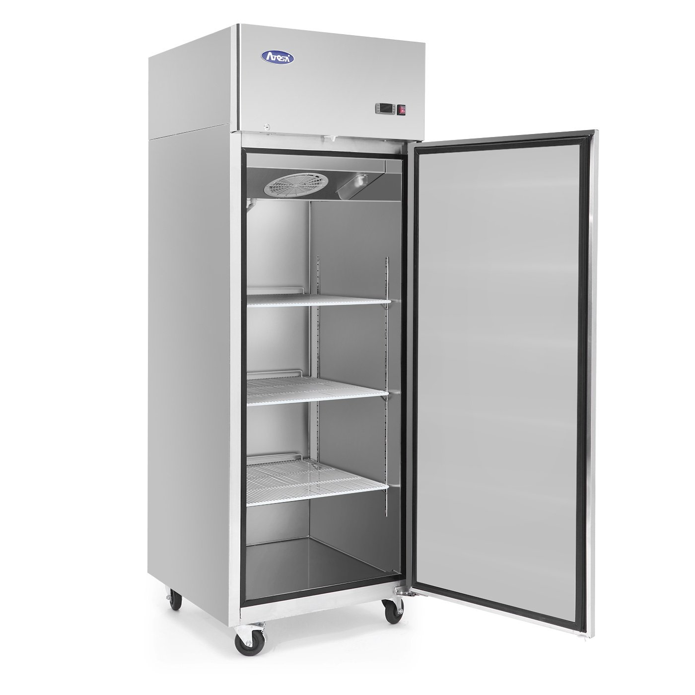 Upright Refrigerator Single Door Commercial Refrigerator 33℉-38℉ KITMA Bottom Mount Stainless Steel Fridge 19 Cu.Ft Restaurant Refrigeration Equipment