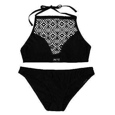 cbe0ea98731a Amazon.com: Sexy Bikini, 2019 Women Sandy Beach Push-up Padded Bra Sexy  Bikini Swimsuit Set Bikini Tops Swimsuit Set: Clothing