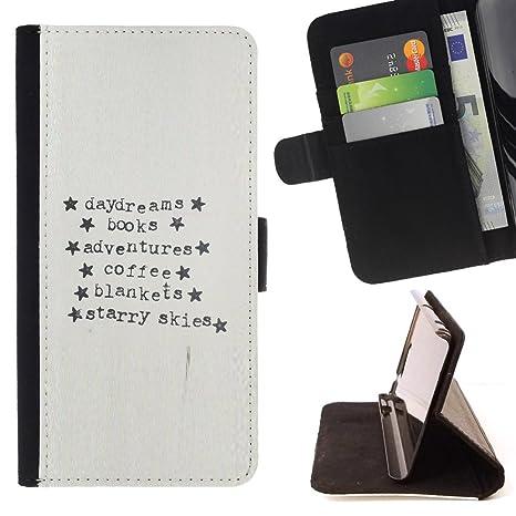 For Sony Xperia Z1 L39 Case , Máquina de escribir Papel Aventura Estrellas texto- la