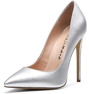 de3cd3103fb17d CASTAMERE Escarpins Femme Talon Fête Mariage Sexy Talon Haut Aiguille Bout  Pointu High Heels Chaussures Stilettos