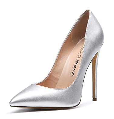 b5a512185120f5 CASTAMERE Escarpins Femme Talon Fête Mariage Sexy Talon Haut Aiguille Bout  Pointu High Heels Chaussures Stilettos
