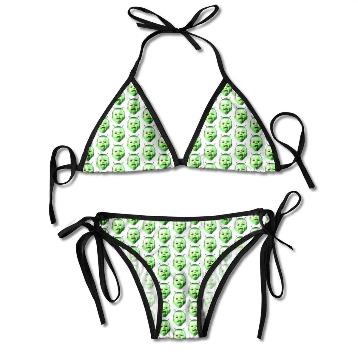 Green Alien Space Baby_2167 Bikini de Moda para Mujer Traje ...