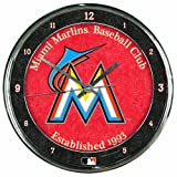 MLB Miami Marlins Chrome Clock