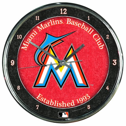 - WinCraft MLB Miami Marlins Chrome Clock