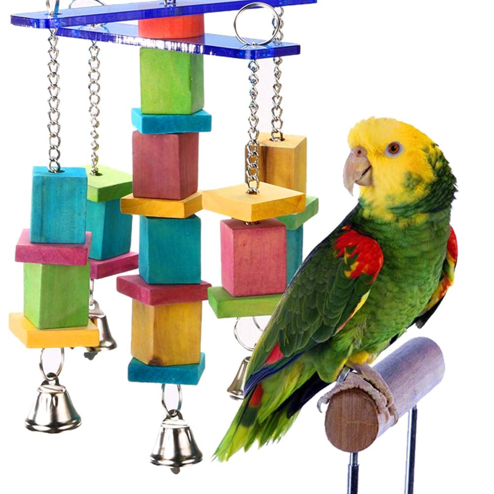 Parrot Bird - Parrot Bird Bite Toys Swing Wood Chew Rope Fun With Bells Pet - Clippers Cover Stand Nail Live Food Toys Bath Swing C-clips