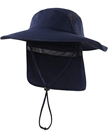 66ee8564722 Home Prefer Mens UPF 50+ Sun Protection Cap Wide Brim Fishing Hat with Neck  Flap