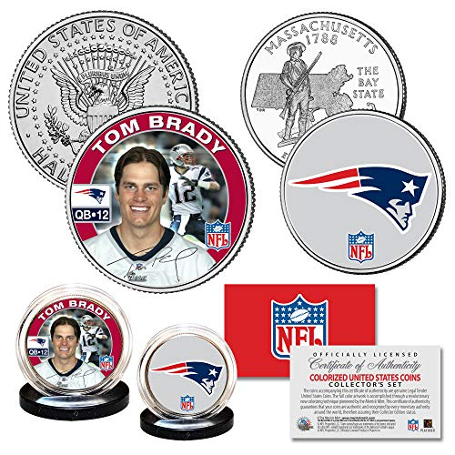 TOM BRADY New England Patriots Rookie Season NFL 2-Coin Set with Certificate