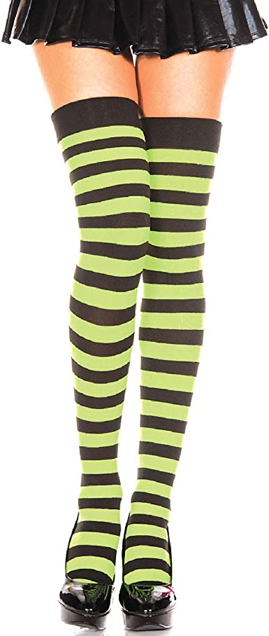 Wide Striped Thigh High Stockings Music Legs 4701