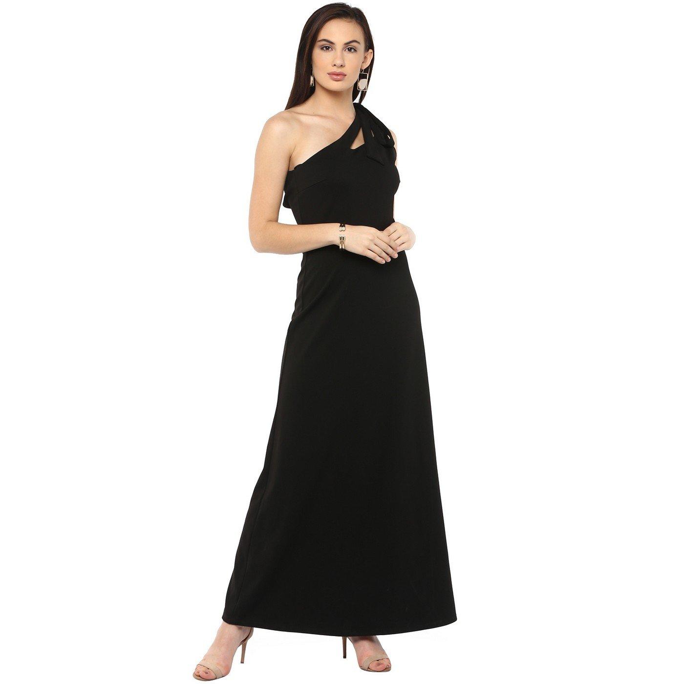 79e0646e1051d Kazo Women's One-Shoulder Maxi Dress: Amazon.in: Clothing & Accessories