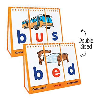 Junior Learning Double-Sided Flip Stands, CVC Flips: Toys & Games