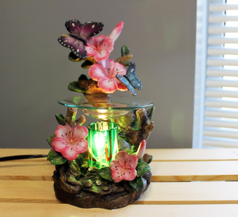 OBI Butterfly and Flowers Polyresin Electric Tart/Oil Warmer with Dimmer Switch by OBI (Image #2)