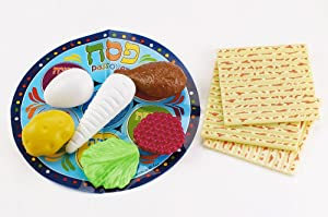 Passover Plastic Seder Set - Pesach Jewish Holiday Gift - Kids Children Game