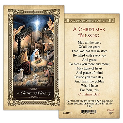A Christmas Blessing Laminated Prayer Card - Pack of 10