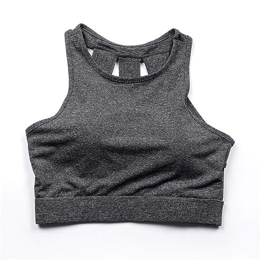abd4bd5cfa86 Yandam Sports Bra Women's Exercise Yoga Vest Without Rim Underwear at Amazon  Women's Clothing store: