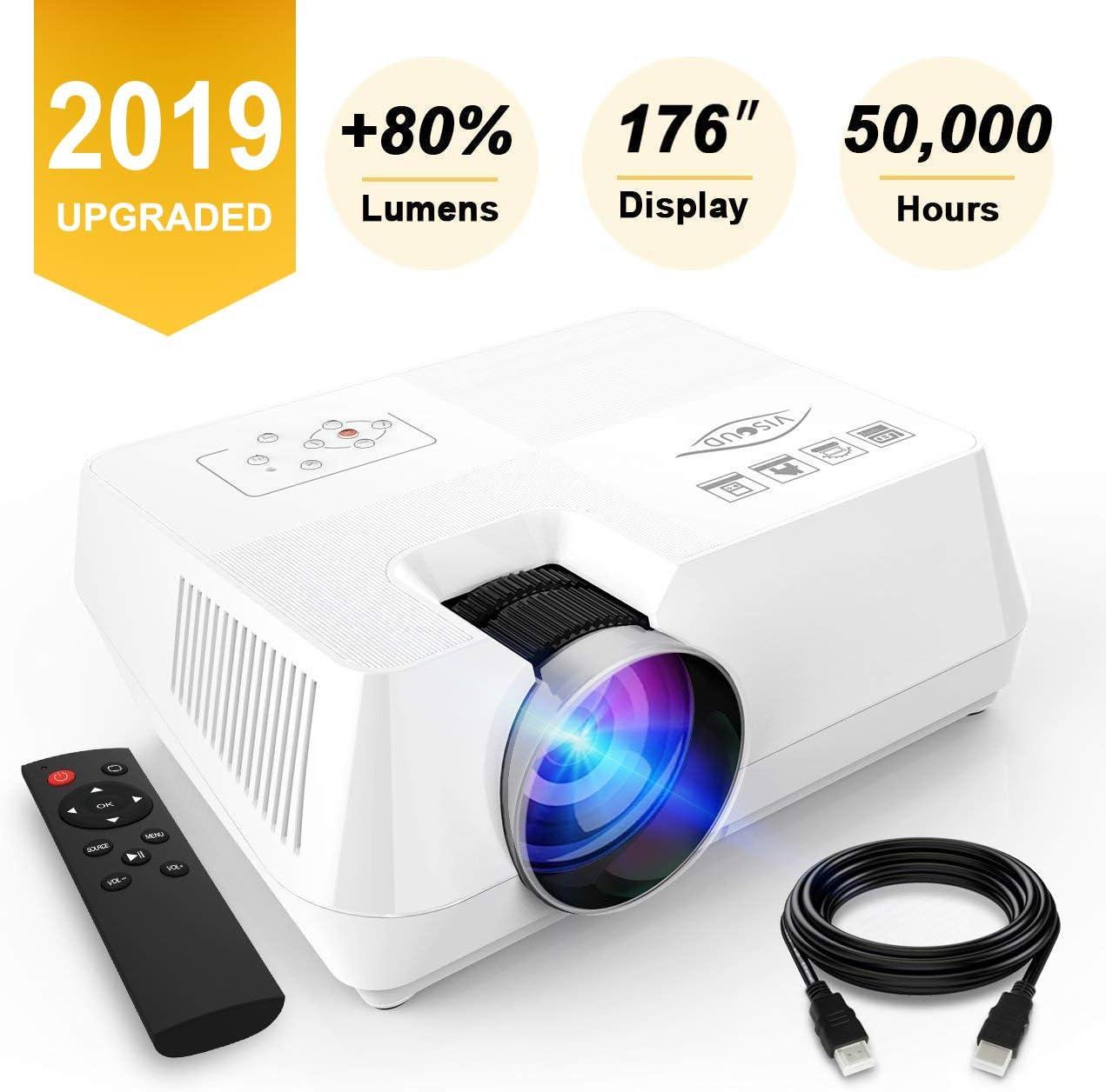 Mini Proyector 2200 Lumenes, Proyector de Video Portátil 1080P ...
