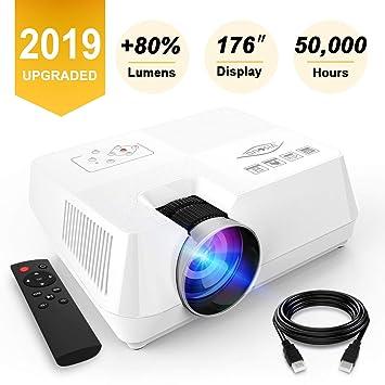 Mini proyector 2200 Lumenes, proyector de video portátil con ...